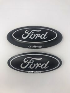 2015 Ford F150 Custom Grille Tailgate Oval Flat Black Flat White Front Camera