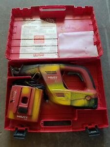 Hilti 24v Reciprocating Saw Wsr 650 a Charger Battery And Case