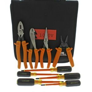 9 piece 1000 volt Insulated Tool Kit With Bag
