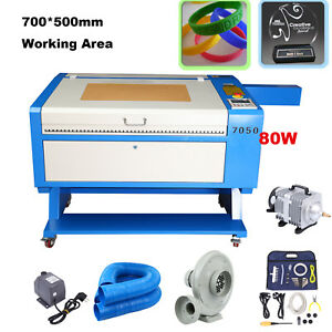 80w Co2 700x500mm Laser Cutter Engraving Cutting Machine Usb2 0 Up