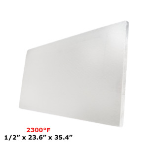 1 2 Refractory Ceramic Fiber Insulation Board 2300f 23 6 X 35 4