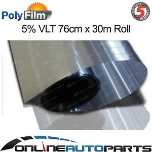5 Silver Mirror Reflective Glass Window Solar Film 76cm X 30m Roll Bulk Tint