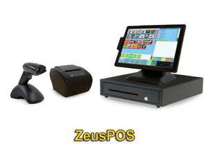 Retail Point Of Sale System Zeus Pos Hardware Bundle W Wireless Scanner
