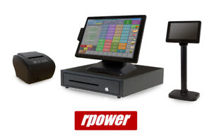Restaurant Point Of Sale System Rpower Pos Hardware Bundle W Lcd Pole Display