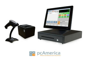Retail Point Of Sale System Cash Register Express Pos Bundle W Lcd Display