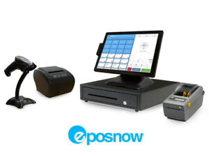 Retail Cloud Point Of Sale System Eposnow Pos Bundle W Label Printer