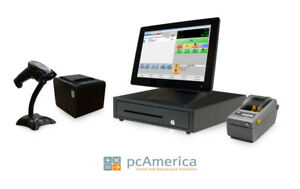 Retail Point Of Sale System Cash Register Express Monthly Pos W Label Printer