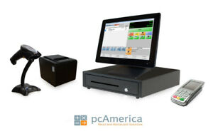 Retail Point Of Sale System cash Register Express Monthly Pos W Payment Pinpad