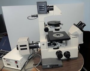 Olympus Imt 2 Inverted Phase Fluorescence Microscope W 100w Arc Lamp