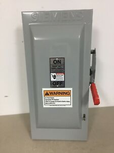 Siemens Hf223n 100 Amp 240 Volt Single Phase Fusible Indoor Disconnect