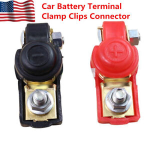 Us Shipping 2 Auto Car Replacement Battery Terminal Clamp Clips Connector Copper