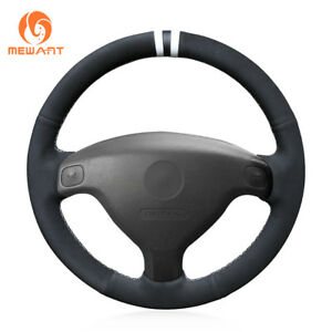Mewant Black Suede Steering Wheel Cover For Buick Sail Opel Astra G H 1998 2007