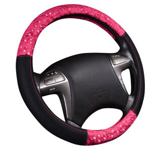Car Pass Delray Lace And Spacer Mesh Steering Wheel Covers Universal Rose Red
