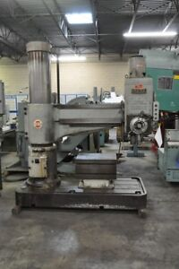 1967 4 X 13 Ikeda Rm 1300 Radial Drill Power Elevation Of Arm On Column
