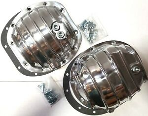 Jeep Dana 30 35 10 Bolt Finned Polished Aluminium Differential Cover Kit Tj Yj