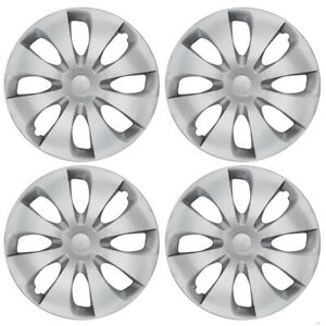 4 Pack Car Wheel Covers Hubcap Replacements For 15 Inch Rims