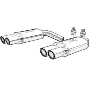 Stainless Performance Exhaust Cat Back Corvette C4 92 96 Lt1