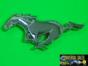 Horse Chrome Ford Mustang Grille Front Emblem Logo Pony 2010 2014 Badge New