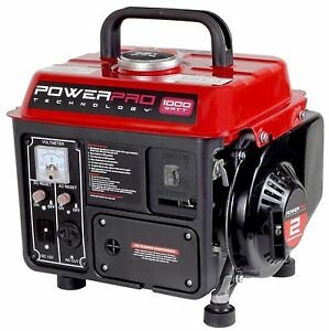 1000 Watt Gasoline Portable Generator New Gas Start Power Rv Emergency