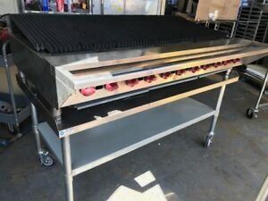 Wolf Achiever Charbroiler 60 With Equipment Stand Natural Gas
