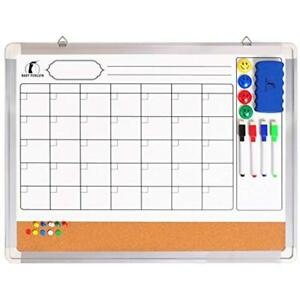 Whiteboard Categories Monthly Wall Calendar Set Magnetic Planner Dry Board 24