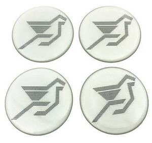 Resin Wheel Center Caps Logo Decal Emblem Sticker 4 X Hamann Gray 56 Mm