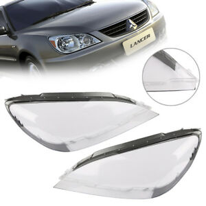 For Mitsubishi Lancer 2004 2007 Pair Lens Lamp Cover Headlight Cover Lampshade