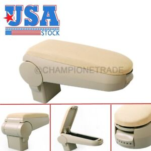 Us Beige Cloth Center Console Armrest Box For 99 04 Vw Golf Bora Jetta Gti R32