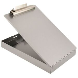 Aluminum Storage Clipboard Pen Pencil Holder Case Tray Home Office School Supply