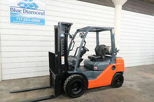 Toyota 8fgu25 5 000 Pneumatic Tire Forklift Dual Fuel 3 Stage S s 2 512 Hr