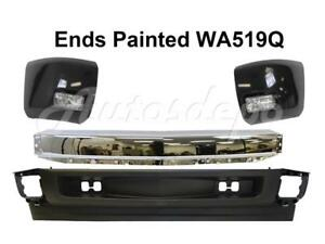 Front Bumper Chrome Bar Wa519q End Fog Valance For Silverado 1500 2008 2010