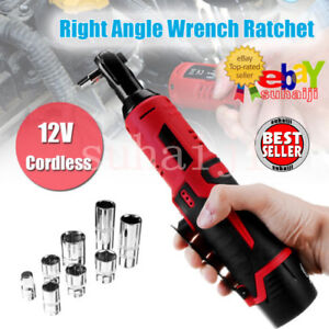 12v Cordless Right Angle Wrench Ratchet Kit 3 8 85n Li ion Battery Charger