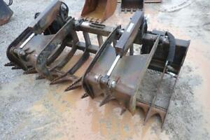 Solsbee 84 Root Grapple For Skid Steer Loaders Dual Cylinders Quick Attach