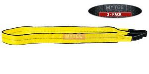 2 Pack 2 X 16 Ft Web Sling Twisted Eye Eye 2 ply Tow Strap Lifting 6400 Wl