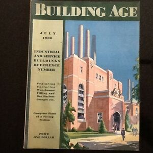 July 1930 Building Age Magazine W Working Drawings For A Brick Service Station
