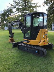 Mini Excavator John Deere 35g With Blade And Thumb Cab With Heat And A c