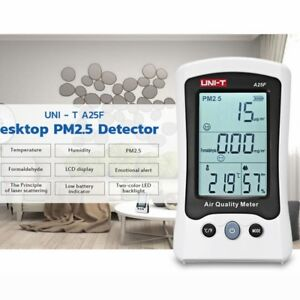 Uni t A25f Lcd Pm2 5 Detector Air Quality Monitoring Analyzer Meter Real Time