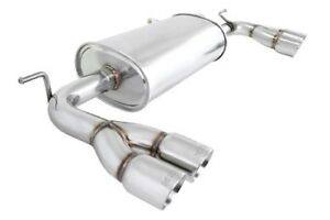Megan Racing Axle Back Exhaust W Stainless Rolled Tips For 09 12 Genesis Coupe