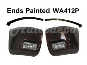 Painted Wa412p Front Bumper Ends Fog Light Filler For Silverado 1500 2008 2010