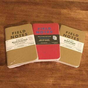 Field Notes Lot Of 9 Books 56 Week Date Checklist Memo Graph Ruled Plain