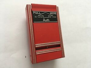 vintage rare Auth Aps 10 Fire Alarm Pull Station