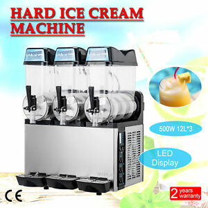3 X 12l Slushy Machine 36l Slush Making Machine Frozen Drink Machine 600w