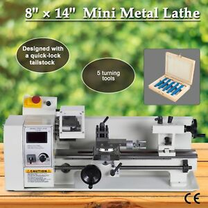 600w Dc Motor Driven Mini Metal Lathe Machine Variable Speed