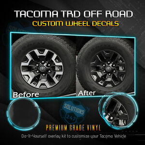Fit 2016 2019 Toyota Tacoma Trd Offroad Wheels Vinyl Decal Glossy Gloss Finish