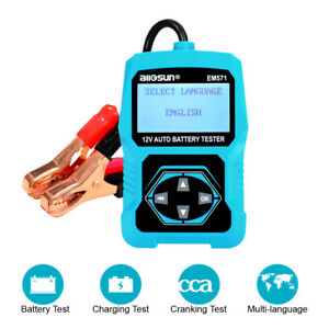 12v Auto Digital Battery Car Cranking Charging System Tester Analyzer Diagnostic