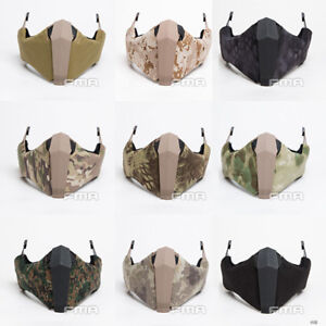 FMA Gunsight Mandible Tactical Airsoft Half Face Mask To FastHigh CutMT Helmet