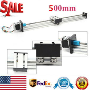 Professional Cnc Linear Actuators 300mm Sliding Block Rail Guide Stepping Motor