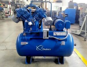 Quincy 25 Hp Model 5120 Air Compressor On 200 Gal Tank Fully Serviced
