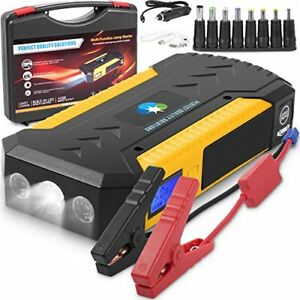 Battery Jumper Charger Pack With Cables Jump Start Any Car Or Automotive 12v A