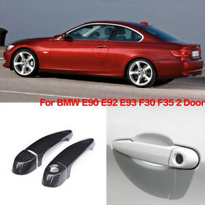 Carbon Fiber Exterior Door Handle W o Smart Key Cover Trims For Bmw E90 E92 F30